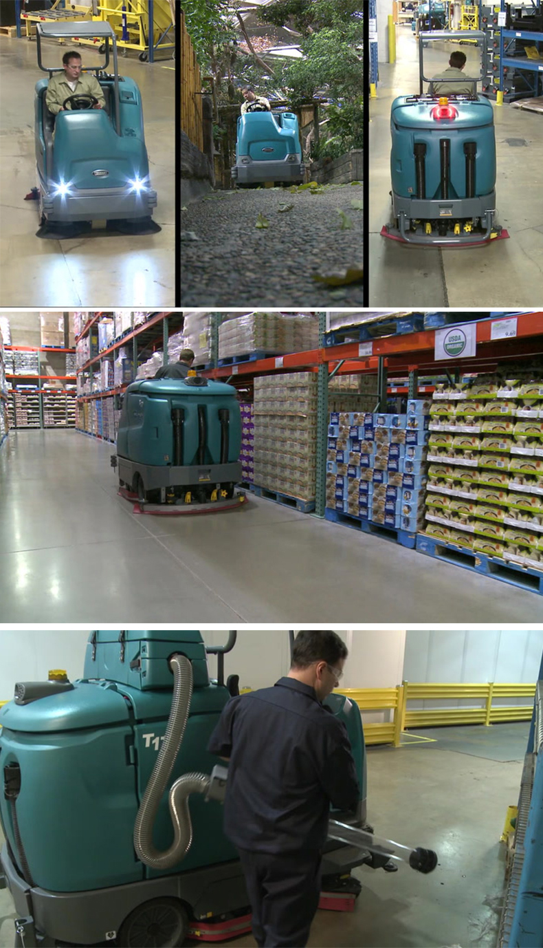 坦能T17重型电瓶驾驶式洗地机 大型洗地车